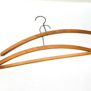 Antique Wood Clothes Hanger Advertising Ideal
